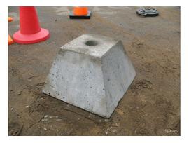 Фундамент под дорожные знаки на автомобильных дорогах